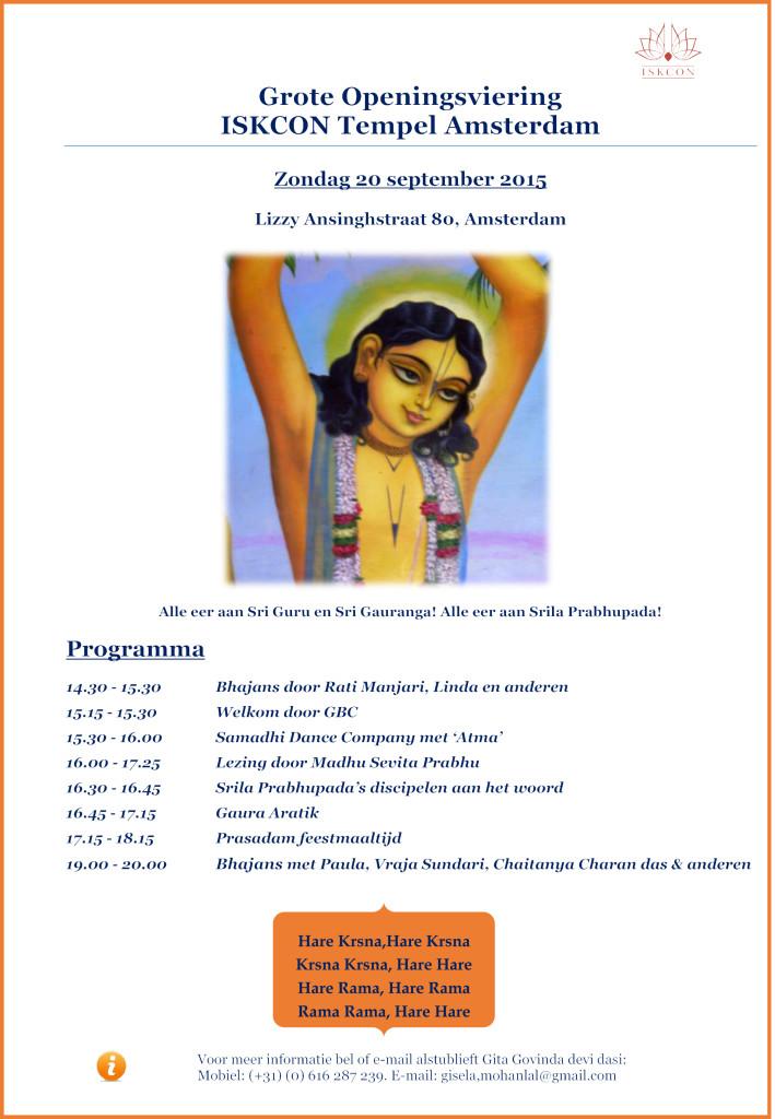 Openingsprogramma 20 September Nederlands